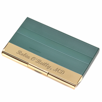 Hunter & Gold Engraved Business Card Holder
