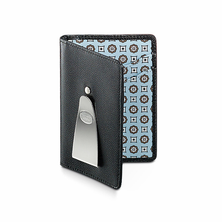 Continental Credit Card Holder & Money Clip in Blue by Dalvey - Discontinued