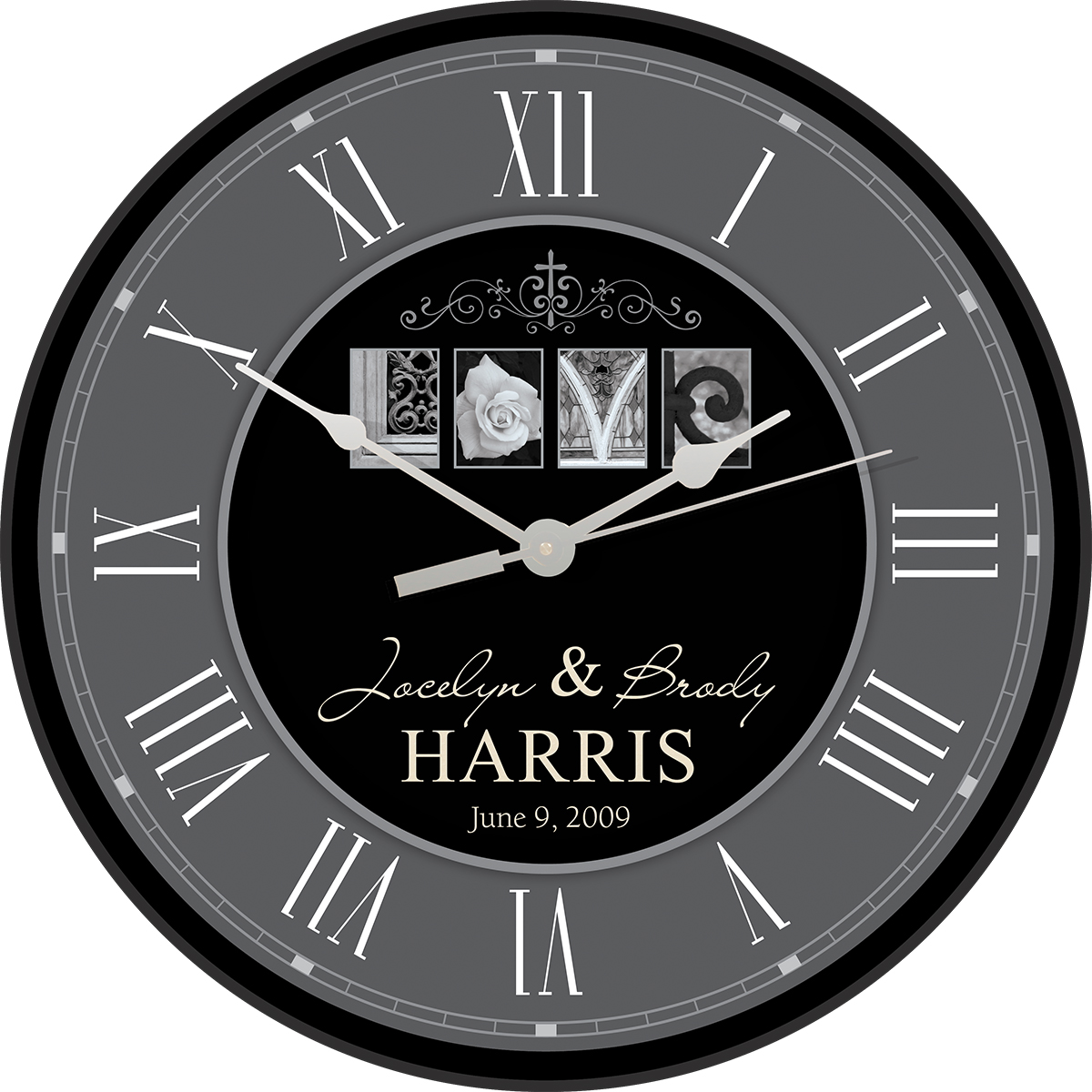 Love Personalized Wall Clock Executive Gift Shoppe
