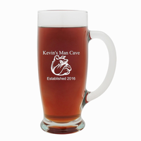 Man Cave   18 Ounce Pilsner Glass with Handle