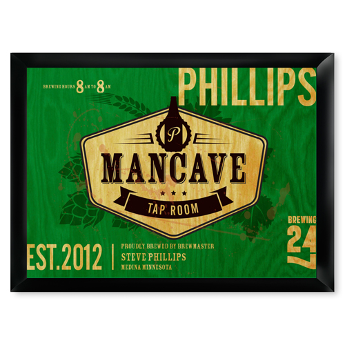 Man Cave Gifts Ireland : Man cave tap room pub sign free personalization