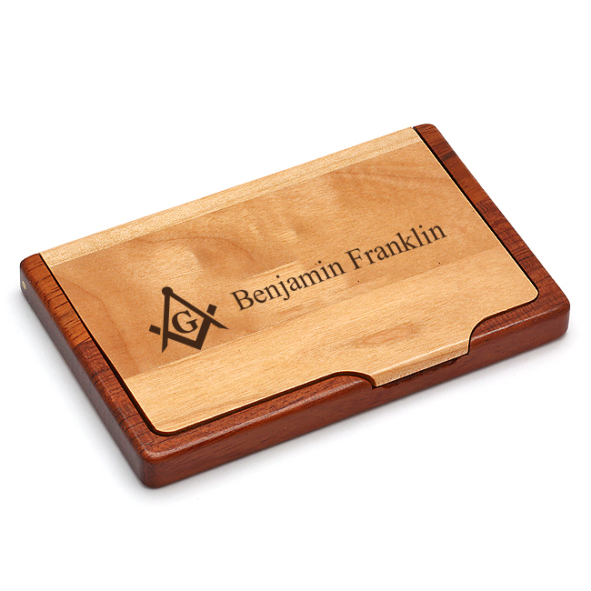 Masonic business card holder masonic gifts for Masonic business card holder