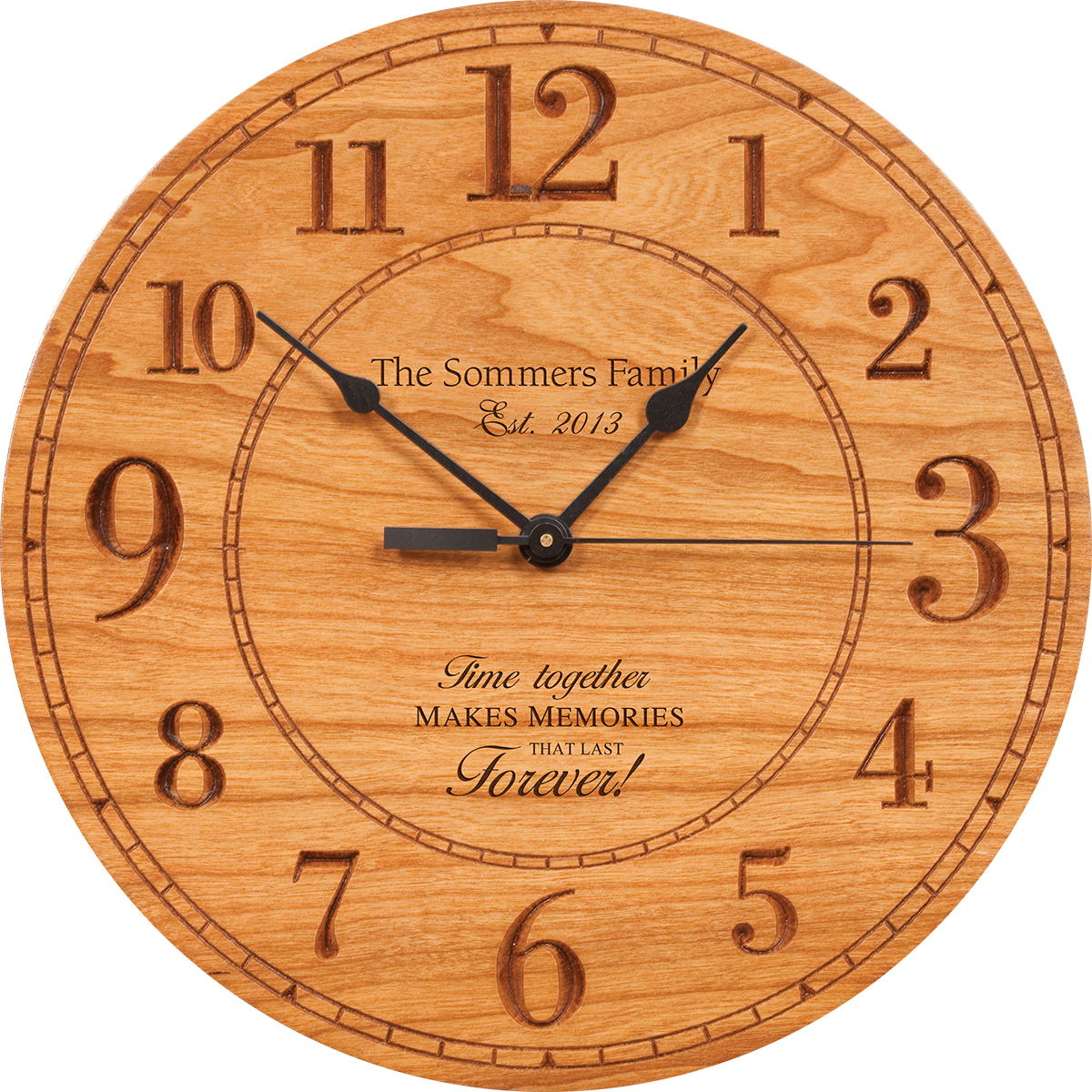 Memories That Last Personalized Wall Clock Executive
