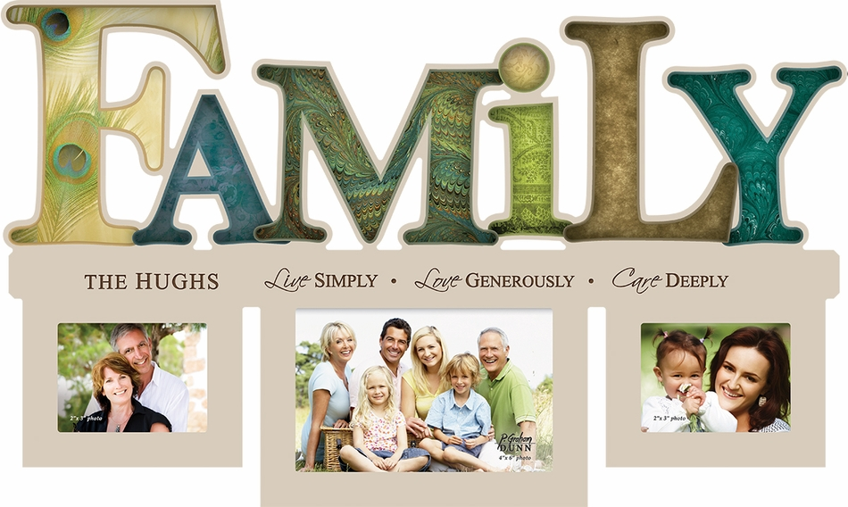 personalized family word style photo frame