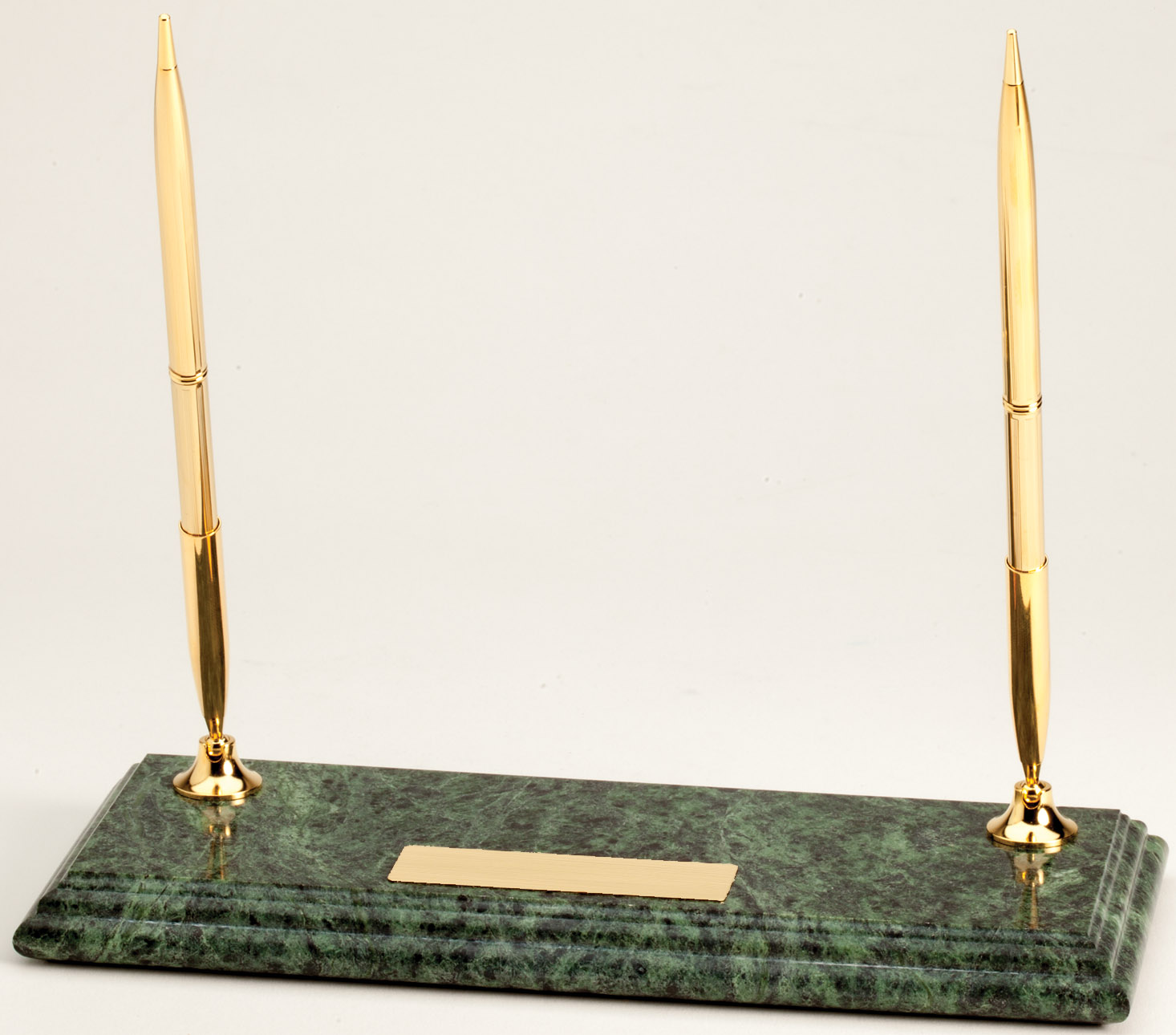 Personalized Green Marble Desktop Pen Stand Pens