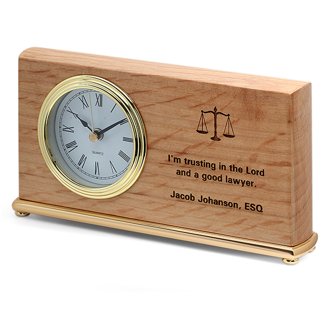 The Lord Amp A Good Lawyer Desk Clock Executive Gift Shoppe