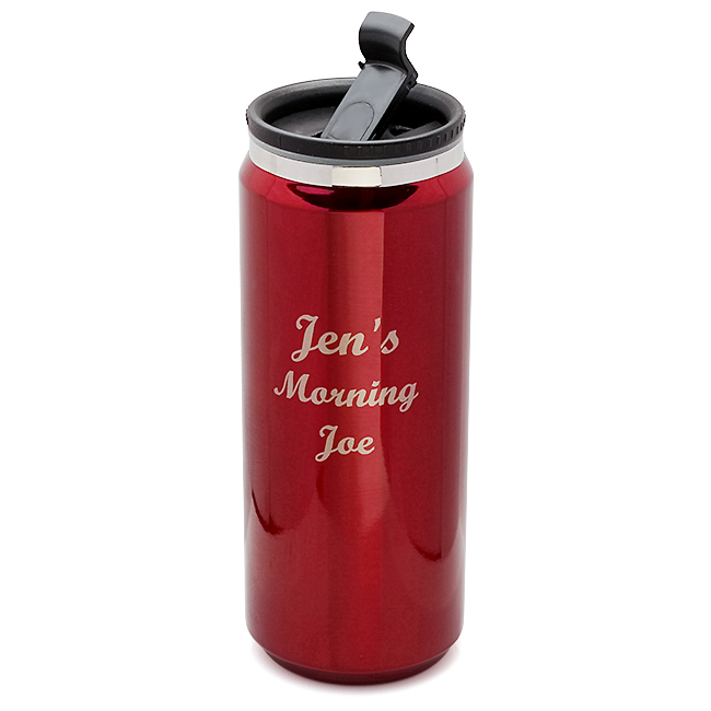 Personalized Red Can Design Travel Mug Executive Gift Shoppe