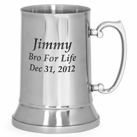 Personalized Stainless Steel Beer Mug - 20 Ounces