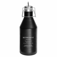 Retirement Theme Personalized 64 Ounce Growler