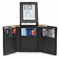 RFID Blocking Trifold Wallet With Double ID Flap