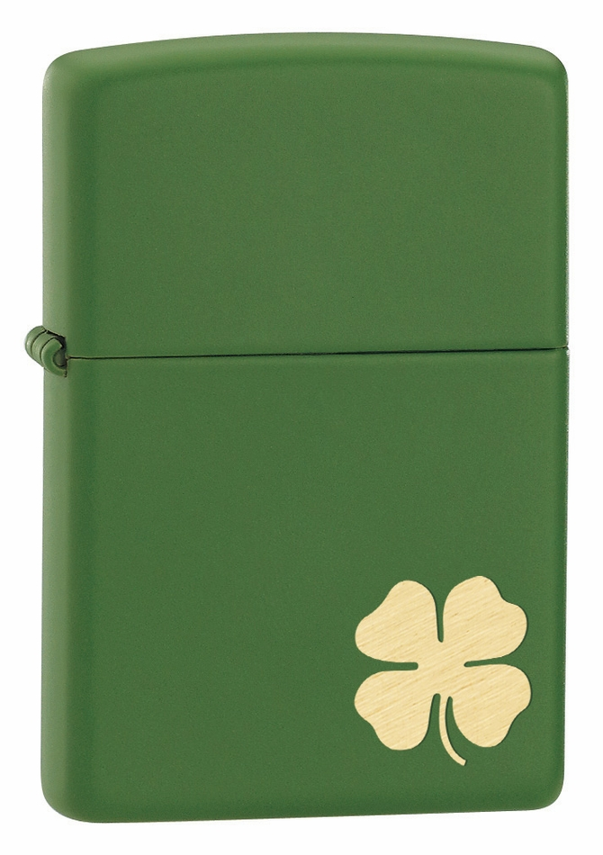 Shamrock Moss Green Matte Irish Zippo Lighter - Executive Gift Shoppe