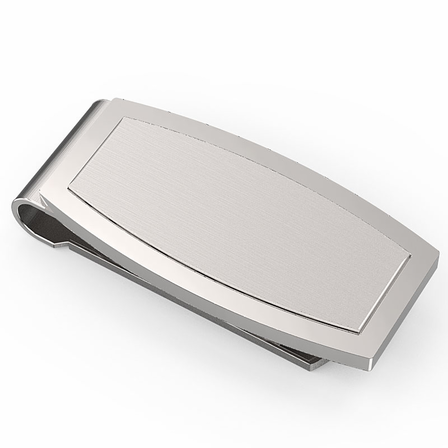Sophisto Collection Engraved Spring Loaded Money Clip - Discontinued