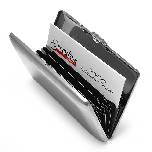 Briefcase business card holder executive gift shoppe for Briefcase business card holder