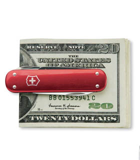 Personalized Swiss Army Knife Money Clip Executive Gift