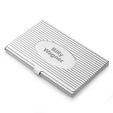The oval engraved stainless steel business card holder executive the oval engraved stainless steel business card holder reheart Gallery