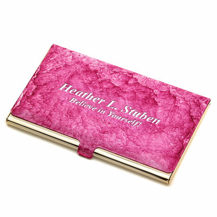 vibrant personalized business card case - Personalized Business Card Case