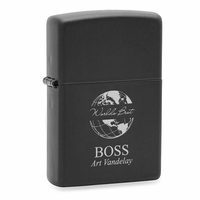 World's Best Boss Black Matte Engravable Zippo Lighter
