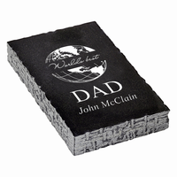 World's Best Dad Black Marble Paperweight
