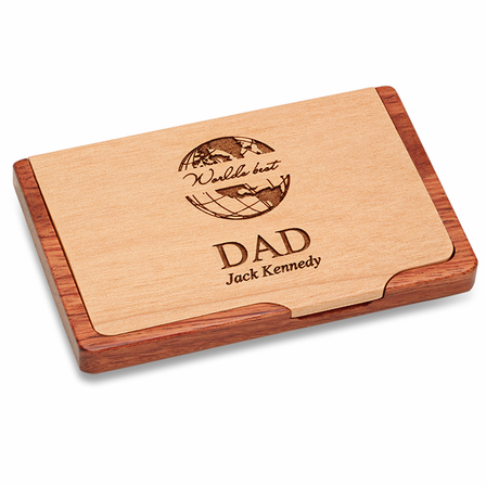 World's Best Dad  Pocket/Desktop Business Card Holder