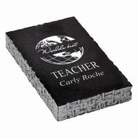 World's Best Teacher Black Marble Paperweight