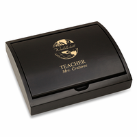 World's Best Teacher  Pen and Card Case Gift Set - Free Personalization