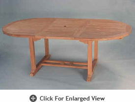"""Anderson Genuine Teak Garden Furniture Bahama 71"""" Oval Extension Table Extra Thick Wood"""