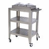 BroilKing®  Mobile Double Buffet Warming Cart  With Clear Individual Lids