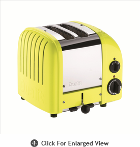 Dualit  2-Slice Classic Bread Toaster Citrus Yellow