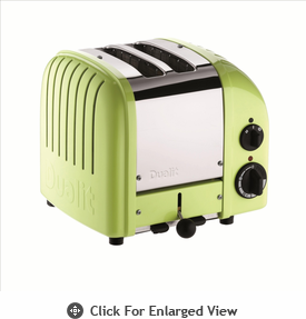 Dualit  2-Slice Classic Bread Toaster  Lime Green