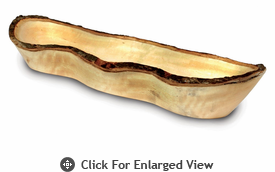 Enrico Mango Wood Long Bread Basket