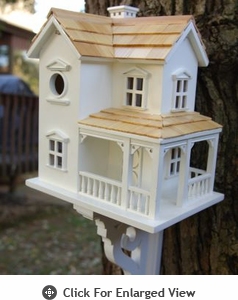 Home Bazaar Prairie Farmhouse Birdhouse w/ Mounting Bracket