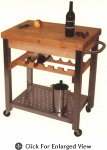 John Boos Cucina D'Vino w/ Dovetailed Maple Drawer/Stainless Steel Front
