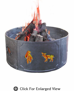 Landmann Fire Pit Big Sky® Fire Ring Wildlife  Black