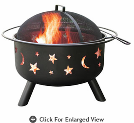 Landmann Fire Pit Big Sky® Stars & Moon - Black