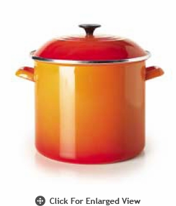 Le Creuset 6Qt Stock Pot Flame