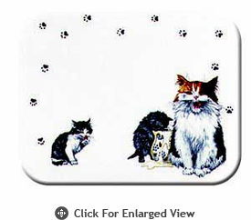 """McGowan Mfg TUFTOP Tempered Glass  Cutting Board Cats Whiskers Medium 12"""" X 16"""""""