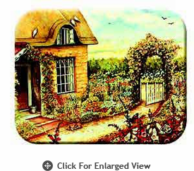 "McGowan Mfg TUFTOP Tempered Glass  Cutting Board Cottage Garden Medium 12"" X 16"""