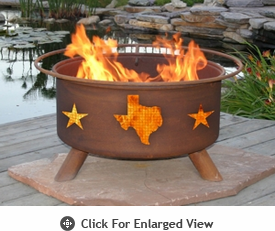 Patina Products Texas State & Stars Fire Pit