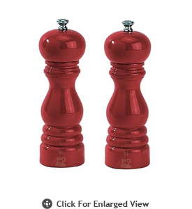 "Peugeot Paris u'Select  7"" Red Lacquer Salt & Pepper Mill"