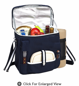 Picnic at Ascot  Wine and Cheese Cooler w/ Blanket  Black