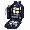 Picnic at Ascot Deluxe Equipped Picnic Backpack for 2 Navy Blue