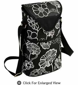 Picnic at Ascot Two Bottle Cooler Tote w/ Shoulder Strap Night Bloom