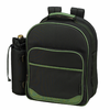 Picnic at Ascot Eco Deluxe Equipped Picnic Backpack for 4 Forest Green
