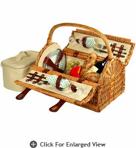 Picnic at Ascot Sussex Picnic Basket for 2 Gazebo