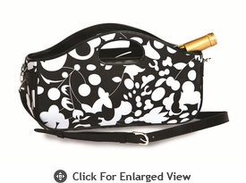 Picnic Plus Nola Wine Clutch Black White