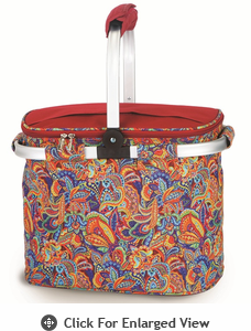 Picnic Plus Shelby Collapsible Market Tote Jewel Paisley