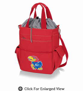 Picnic Time Activo Cooler Tote  University of Kansas Jayhawks Red