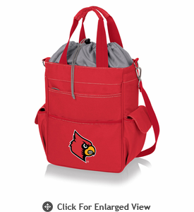 Picnic Time Activo Cooler Tote  University of Louisville Cardinals Red