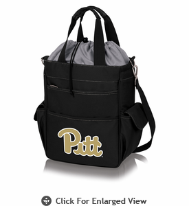 Picnic Time Activo Cooler Tote  University of Pittsburgh Panthers Black w/ Grey
