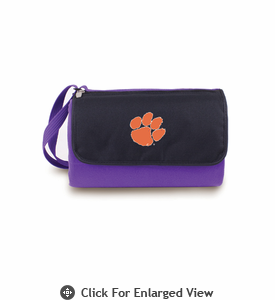 Picnic Time Blanket Tote - Purple Clemson University Tigers